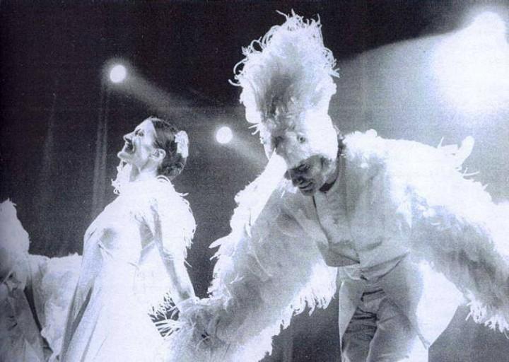 Renato Zero assieme alla ballerina Carla Fracci