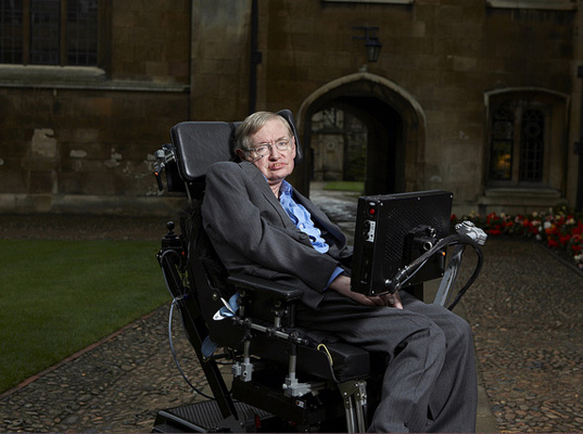 Picture shows: Stephen Hawking. Stephen Hawking unfolds his personal, compelling vision of one of life's biggest questions– who or what created the universe in which we live?